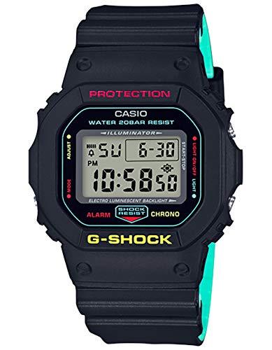 カシオ G-Shock 5600、ブラック/ティール、ワンサイズ M US