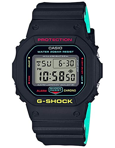 Casio G-Shock 5600, Black / Teal, onesize M US