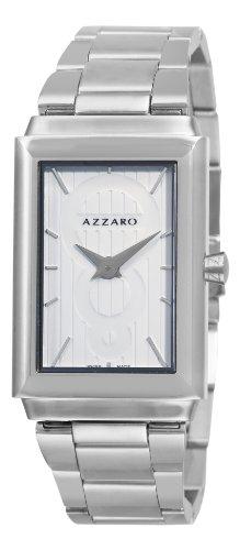 Azzaro AZ2061.12AM.000 Legand Reloj de pulsera rectangular con esfera blanca para hombre