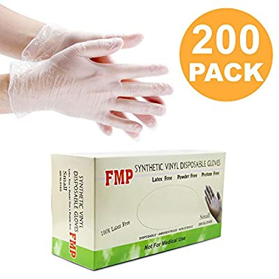 Disposable Vinyl Gloves, Non-Sterile, Powder Free, Smooth Touch, Food Service Grade