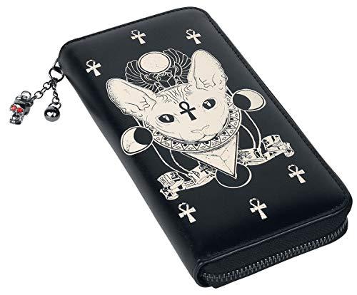 Banned Alternative Ankh Cat Frauen Geldbörse schwarz Polyurethan, Polyester Gothic, Katzen, Rockwear