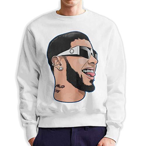 MYHL Men's Anuel-AA Fashionable Casual Style Crew Neck Cotton Sweatshirt Hoodie