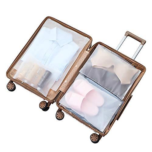 Vankra - 10 bolsas impermeables para ropa de viaje, bolsas de almacenamiento con cierre de cremallera, transparentes Número 6