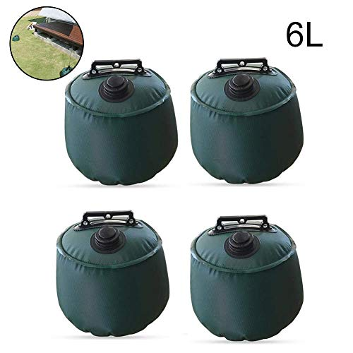 AquaBlue 6L Gazebo Water Weights Industrial Grade Heavy Duty Double-Stitched Water Weight Bags, Leg Weights, Trampolines Weighted Feet Bag for Pop Up Canopy Tent Sun Shades, Umbrella 4 Pack