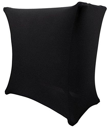 Rockville RSC5B Universal Black DJ Scrim Cloth Cover For X Stand+Carry Bag