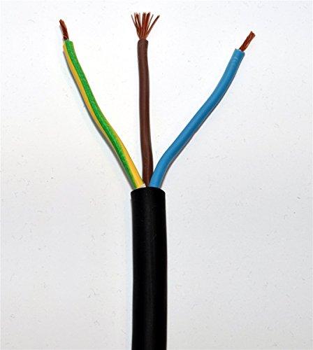 50m H07RN-F 3G1,5 Gummischlauchleitung Ring schwarz 3x1,5qmm Gummikabel Verlängerungskabel