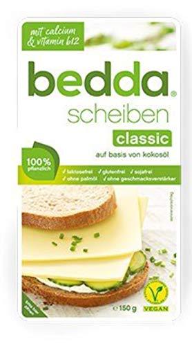 bedda - SCHEIBEN Classic 150g milde pflanzliche Käsealternative nach Vorbild eines jungen Gouda 1er Pack