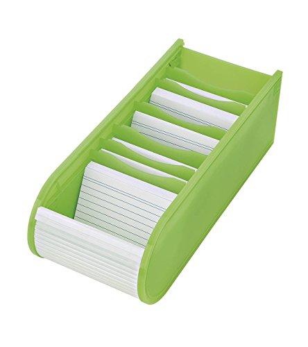 Wedo 2508011 - Fichero didáctico, caja para fichas A8 500 llena, color verde