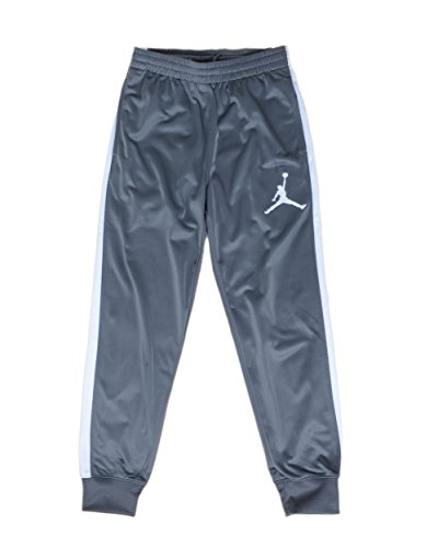 Jordan Big Boys' Basketball/Track Warm-Up Pants (Large, Grey/White)