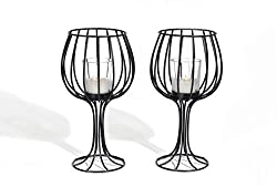 Wine Cup Shaped Candle Holder