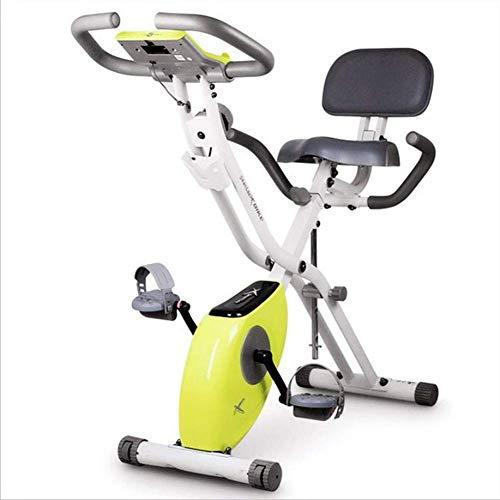 CY&WIN Magnetisch klappbares Heimtrainer mit Trainingssystem und Gummiband für aerobe Indoor-Fahrräder