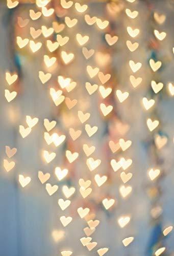 Rosa Azul de ensueño Lunares luz Bokeh cumpleaños Boda Amor bebé recién Nacido niño Foto Zona Foto de Fondo Foto telón de Fondo A34 10x7ft / 3x2.2m