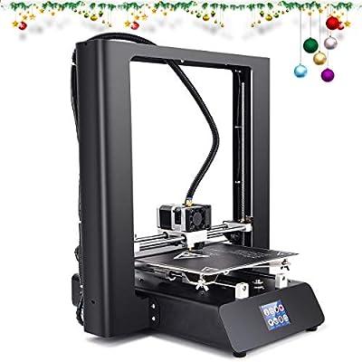 "ZD-ONE 3D Printer 99% Assembled Sheet Metal Wireless Pro 3D Printer with Offline Print Fast Heat Aluminum Heatbed Direct Drive Extruder for Soft Filament, 2.5"" Touch Screen 220x250x250mm"