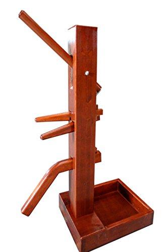 Wooden dummy choy lee fut walnut color