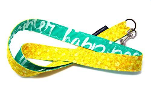 Lieblingsmanufaktur - Llavero con mosquetón y correa para el cuello, de algodón, diseño de patchwork, hecho a mano Unikat3400. Talla única