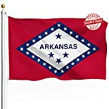 DFLIVE Double Sided Arkansas State Flag 3x5ft Heavy Duty 3 Ply Polyester AR State Flags Indoor and Outdoor Use