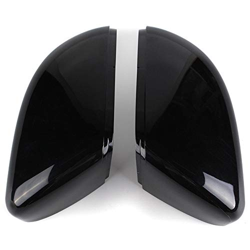 TOOGOO Gauche + Droite Gauche Brillant Noir Porte Aile Rétroviseur Couverture pour VW Touran Golf Mk6