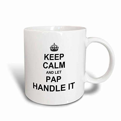 3dRose Keep Calm and Let Pap Handle It. Fun Funny Grandpa Grandfather Gift...