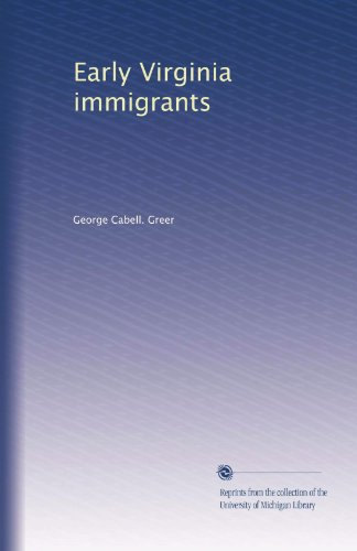 Early Virginia immigrants