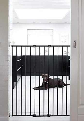 BabyDan Pet Streamline Barrière pour Chien Noir Hauteur 103,5 cm
