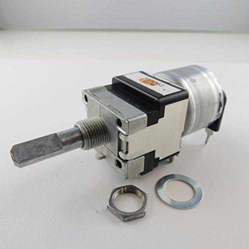 Unbekannt 1x 100k Ohm ALPS Stereo Motorpoti Motor Poti 6mm Achse Potentiometer linear Dreh