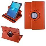 "COOVY® 2.0 Funda para Huawei MediaPad M3 Lite 10 (10.1') Smart 360º Grados Rotaciã""N Cover Case Protectora Soporte | Naranja"