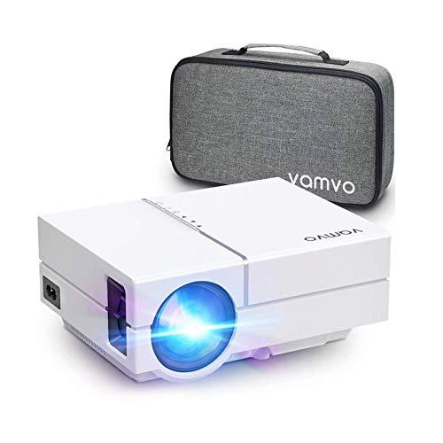 Vamvo Beamer Full HD 4300 Lux mit Dolby, L4500 Mini Beamer 1280*720P mit Tragetasche unterstützt 1080P Multimedia LED, Projektor ideal für Heimkino, Unterhaltung, Partys, Spiele und PPT-Geschäfte