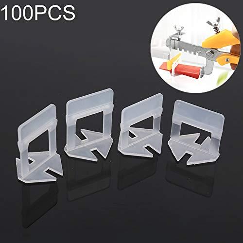 Houtbewerkingsgereedschap 2,5 mm Tile Leveling-System Clips Kit Wandvloertegels Spacer Tiling Tool, voor bestrating Locator gereedschap OG6480 (100 stuks)