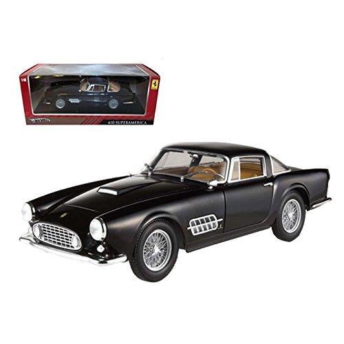 Great Features Of Ferrari 410 Superamerica Black 1/18 Diecast Car Model by Hotwheels