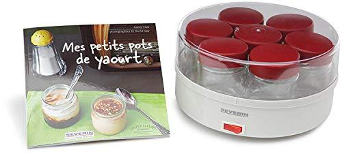 Severin 3519.760 - Yogurtera (13 W, 14 tarros, recetario en Francés), color blanco y rojo