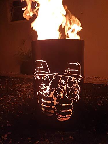 Tiko-Metalldesign Feuertonne/Feuerkorb mit Bud Spencer & Terence Hill Motiv