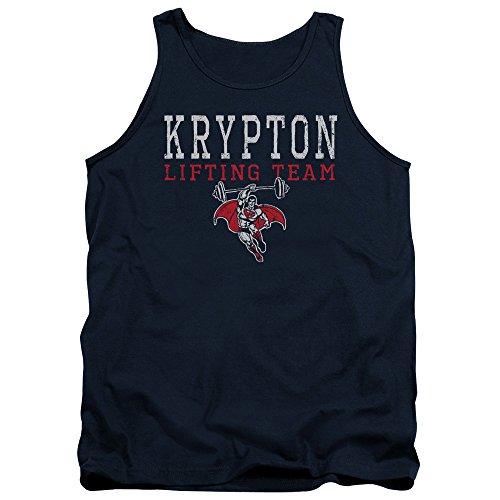 Tank Top: Superman - Krypton Lifting Team Size L Navy