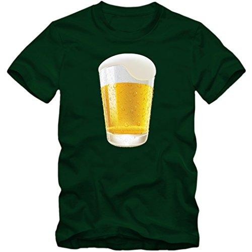 Bier T-Shirt | Beer | Kühles Blondes | Herren |Cerveza |Fun, Farbe:Dunkelgrün (Bottle Green L190);Größe:M
