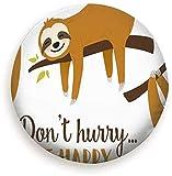 Set Cute Cartoon Sloth Graphic Animals Vida Silvestre Poliéster Universal Rueda de Repuesto Cubierta de neumático Cubiertas de Rueda para RV SUV Camioneta Camper Accesorios de Remolque de Viaje