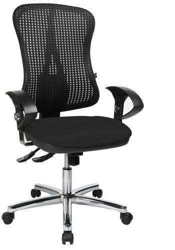 Topstar HJH Solution Deluxe AL.U2 Chaise de bureau pivotante Chromé/noir