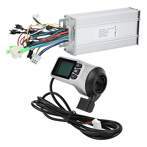 VGEBY 36V / 48V 1000W 124DX Caja de Controlador de Motor sin escobillas Pantalla LCD de aleación de Aluminio para Scooter eléctrico