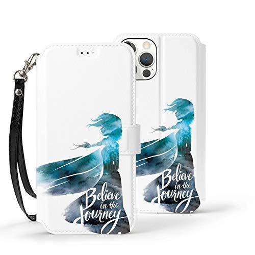 Nueey Fro-Zen A-P-L-E - Funda básica para iPhone 12 con ranura para tarjeta de piel para mujer, color blanco