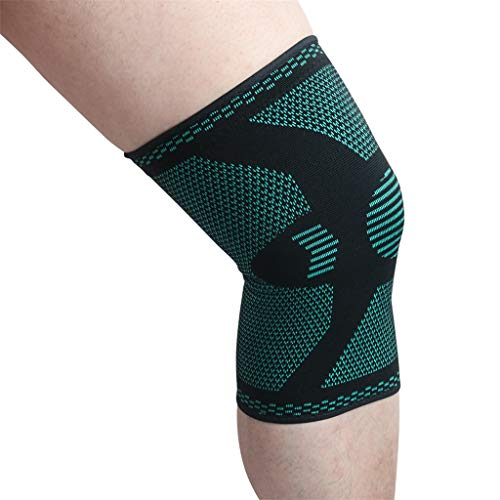 CapsA Knee Sleeves Knee Brace Knee Pads for Joint Pain and Arthritis Relief Improve Circulation Compression Sleeves (Green, S)
