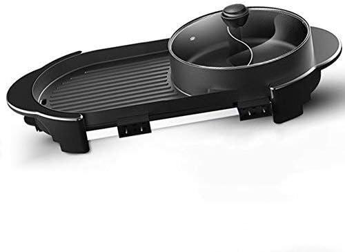 BBQ Hot Pot Double Pot, monopièce Cuisinière électrique, électrique Hot Pot électrique Barbecue électrique de cuisson Pan, Barbecue grillades (Taille: Large) WKY (Size : Large)