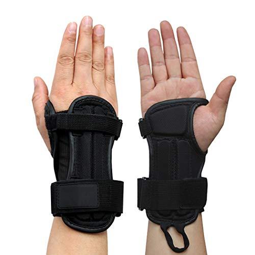 JUSTDOLIFE JUSTDOLIFE 1 Paar Polsbeschermer an-Skid Pols Palm Brace Pols Palm Ondersteuning voor Ski Snowboard M Zwart