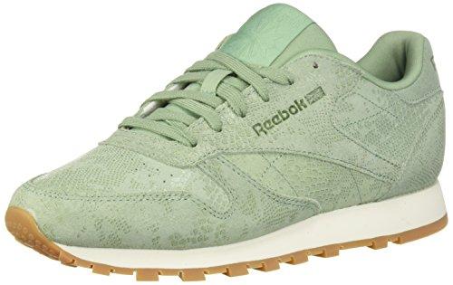 Reebok Women's Classic Leather Walking Shoe, Exotics-Industrial Green, 10 M US