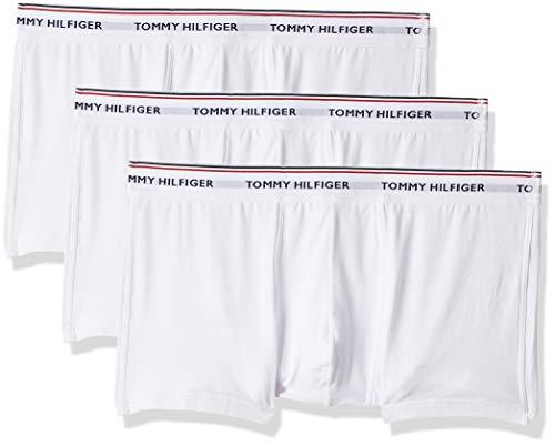 Tommy Hilfiger Herren Hüft-Shorts 3p Lr Trunk, 3er Pack, Weiß (White 100), Medium