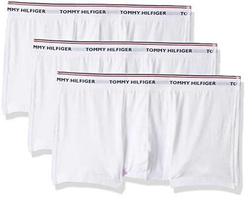 Tommy Hilfiger Herren Hüft-Shorts 3p Lr Trunk, 3er Pack, Weiß (White 100), Medium