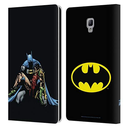 Head Case Designs Oficial Batman DC Comics La Muerte en la Familia Fundas de cómics Famosas Carcasa de Cuero Tipo Libro Compatible con Samsung Galaxy Tab A 8.0 2017