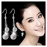 xiaofeng214 925 Sterling Silver New Jewelry Shambhala Luxury Zirconia Femenina Popular Original Marca de Pendientes de Stud Vintage de Alta Gama (Gem Color : 104)