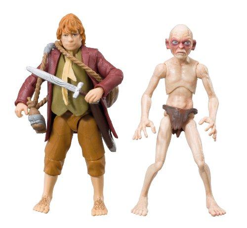 The Hobbit - BD16011 - Figurine - Pack Aventure Bilbo & Gollum x 2