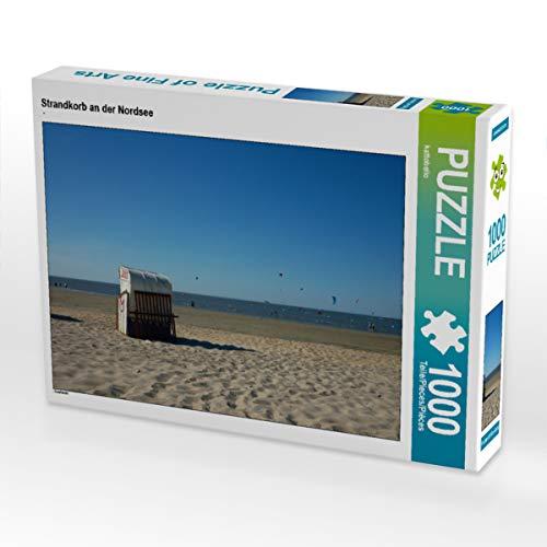 CALVENDO Puzzle Strandkorb an der Nordsee 1000 Teile Lege-Größe 64 x 48 cm Foto-Puzzle Bild von Kattobello