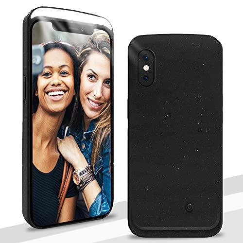 CHBO Funda Selfie para iPhone 7 & iPhone 8 Luces Led Case en Frente,Cover Recargable Batería,[3 Modos de Iluminación] Regulable para Selfie Luz Ideal Selfies, O Vídeo,Live,Make-Up