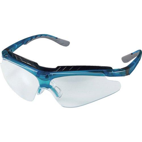 OTOS 一眼型保護メガネ(スポーツタイプ)クリアレンズ フレーム青色 B810ASF