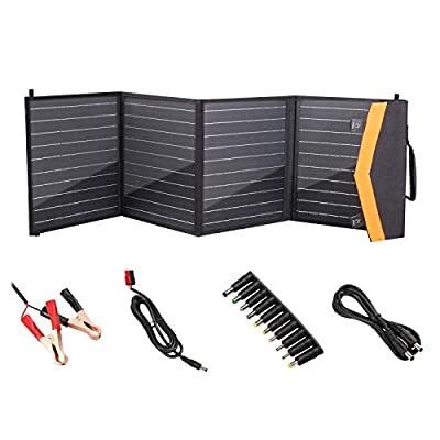 OUTAD Portable Solar Panel Charger 100W,with USB QC 3.0 Ports & 18V DC Output,for Portable Generator,RV,Boat,Cell Phones,Laptop